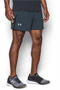 מכנסי ריצה UNDER ARMOUR לגבר 5 אינצ' בצבע אפור כהה
