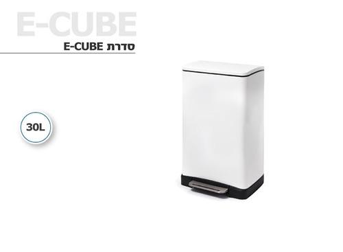 פח אשפה מרובע EKO בצבע לבן 30 ליטר - תמונה 2