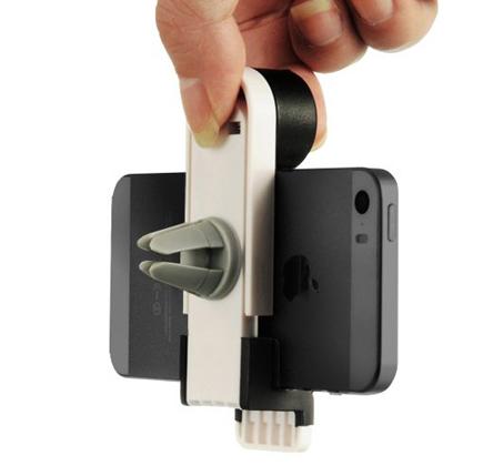 מעמד לסמארטפון לפתח המזגן, מינימליסטי ואינו חוסם את שדה הראיה, מתאים לכל המכשירים - תמונה 4
