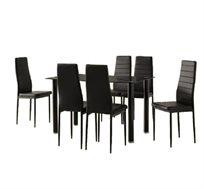 פינת אוכל מודרנית כוללת שולחן ו-6 כסאות דגם ונציה