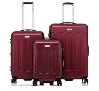 סט מזוודות 3 גדלים JEEP MIAMI דגמי 2018 במגוון צבעים לבחירה