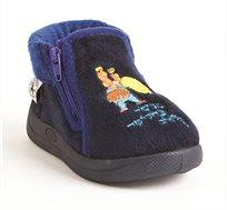 """נעלי בית דפנה לפיצפונים """"מעשה בחמישה בלונים"""" דגם דני בצבע נייבי"""