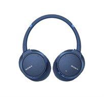 אוזניות סטריאו SONY דינמיות מרופדות מסננות רעשים BT, NFC דגם WH-CH700