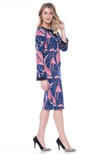 שמלת צורות בצבע נייבי