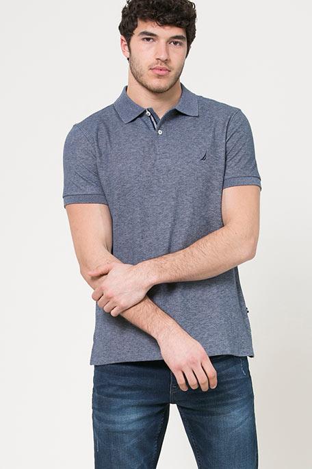 חולצת פולו לגברים - כחול