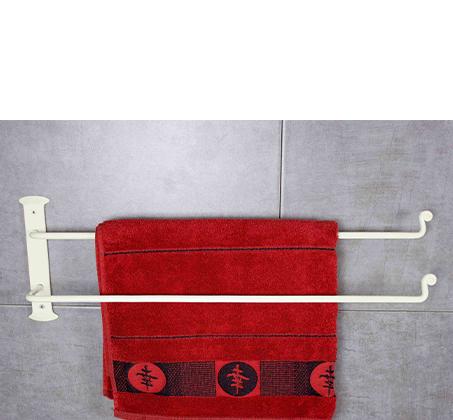 מוט לתליית מגבת כפול בצבע שמנת NADIR - תמונה 2