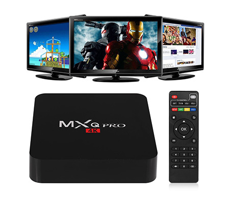קופסת טלויזייה חכמה 4k ANDROID 5.1 TV BOX  MINI PC QUAD Core mini pc עם שלט חכם להפעלה פשוטה