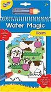 ספר מים קסום דגם חווה, מבית Galt, ספר ובתוכו שישה ציורים לשימוש חוזר, רק ב-₪49!