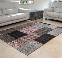 """שטיח סלוני דגם """"וינטג פאטצ'"""" בצבע אדום מידות לבחירה"""