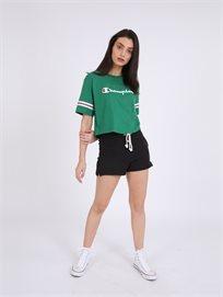 Champion נשים - חולצת קרופ ירוקה