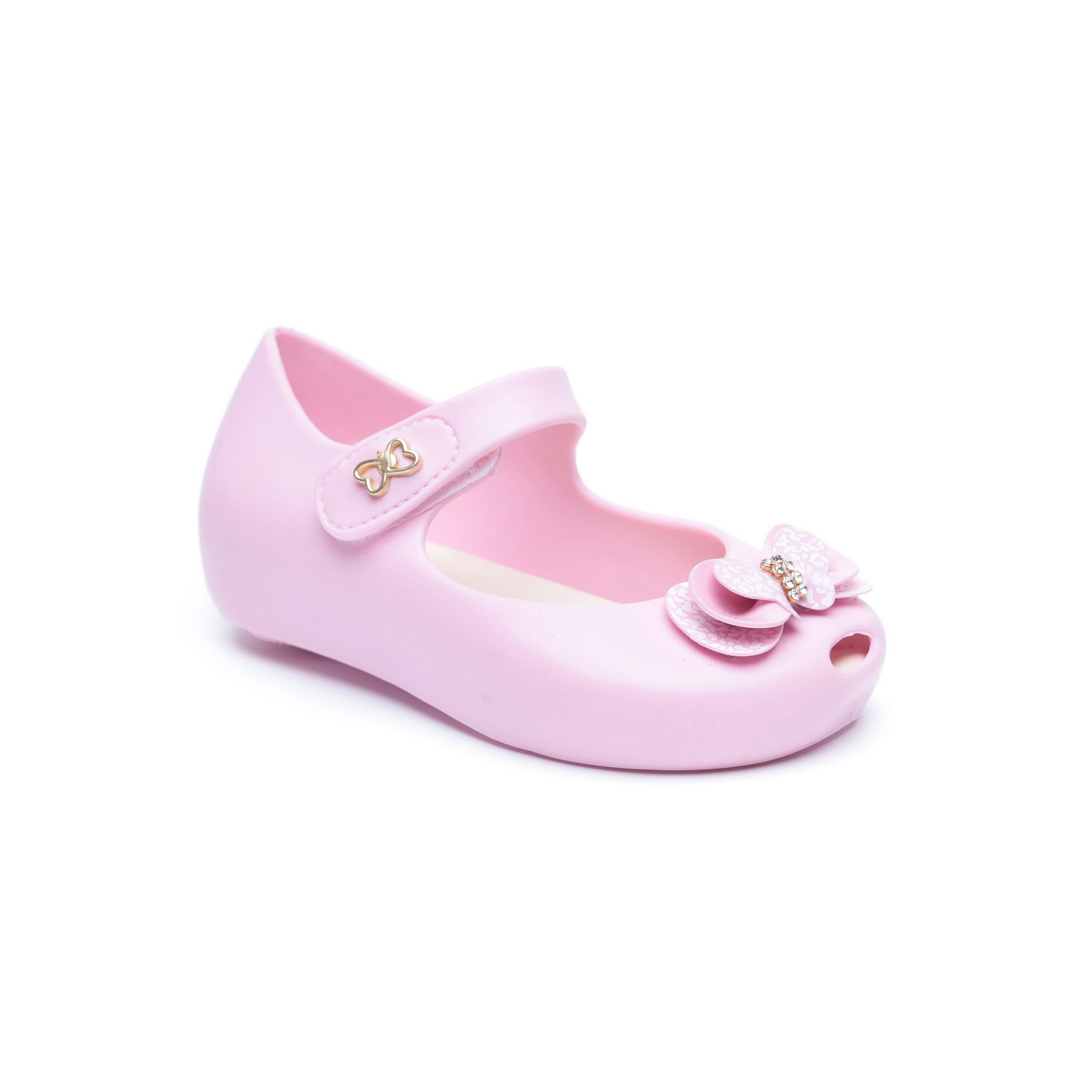 Candy - נעלי בובה לילדות בצבע ורוד בעיטור פפיון