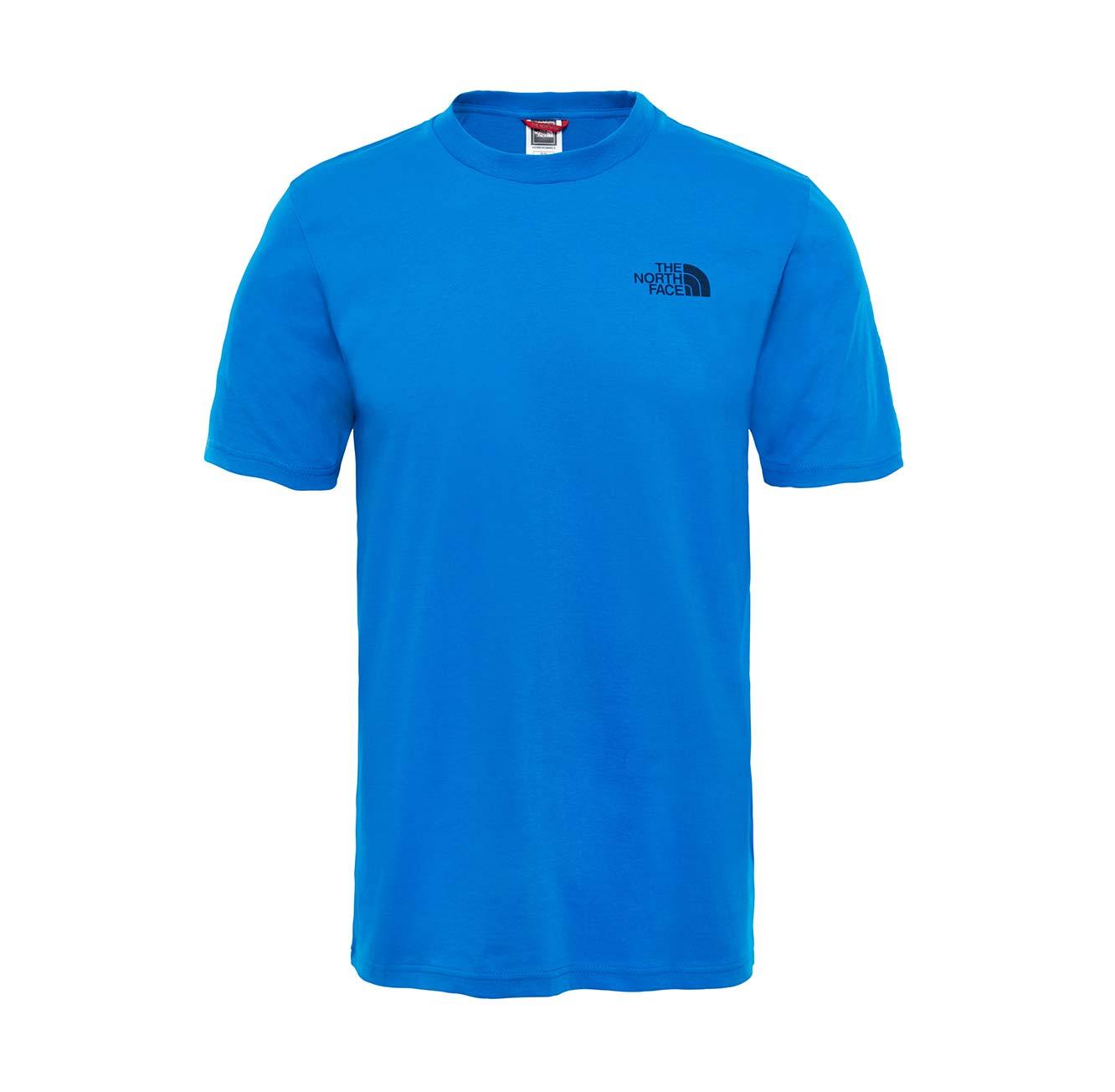 טי שירט לגבר עם לוגו גדול קטן - כחול