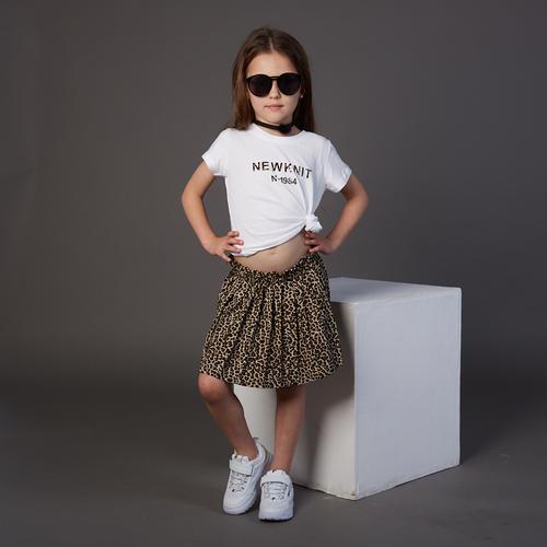חליפת חצאית Oro לילדות (מידות 6 חודשים-5 שנים) מנומר