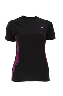 ARENA נשים// חולצת אנטיסאן שחור ורוד