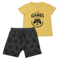 Minene חליפת גן (2-7 שנים) - Game צהוב