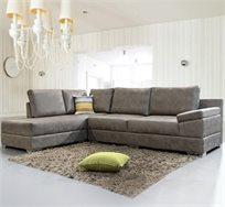 ספה פינתית בריפוד דמוי עור VITORIO DIVANI דגם אמור + הובלה והרכבה חינם