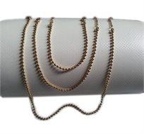 לכל אירוע! סט גולדפילד כדורים מרהיב הכולל שרשרת, צמיד ליד, צמיד לרגל בצבע צהוב 10K