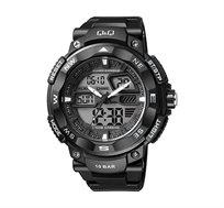 שעון יד אנלוגי-דיגיטלי לגבר עם תאורה, סטופר, שעון מעורר וטיימר Q&Q