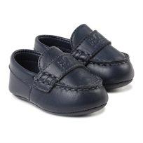 BOSS / בוס נעלי תינוקות (מידה 16-20) -  מוקסין כחול
