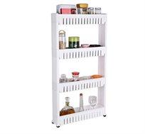 עגלת שירות ניידת למטבח 4 או 5 קומות לאחסון מוצרים