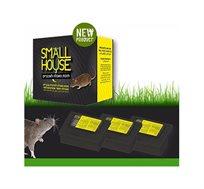 3 תחנות פתיון להדברת עכברים - SMALL HOUSE - משלוח חינם