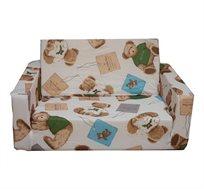 ספה עשויה ספוג איכותי, נפתחת למיטה לתינוקות ולילדים מגיל 1 שנה ועד גיל 5