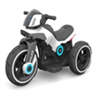 אופנוע משטרה ממונע לבן 3 גלגלים