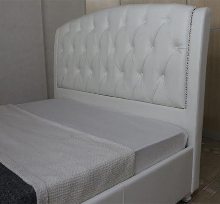 מיטה וחצי 120X190 בעיצוב איטלקי GAROX מרופדת עור איכותי ונעים דגם CAMELIA - משלוח חינם - תמונה 2