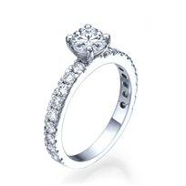 טבעת יהלומים 2.01 קראט D/Vs2 בעיצוב קלאסי