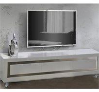 מזנון לסלון דגם SHARONA עשוי MDF בצבע לבן בגימור אפוקסי LEONARDO
