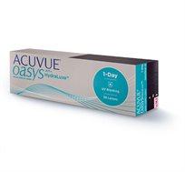 מארז 24 חבילות עדשות מגע Acuvue Oasys יומיות לשנה + מתנה