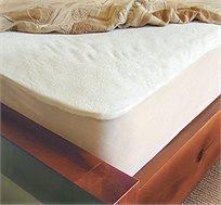 מגן מזרן שקט בעל שכבה עליונה ממגבת 100% כותנה במבחר גדלים