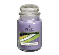 נר ריחני בניחוח Lavender & Lemongrass בגדלים לבחירה