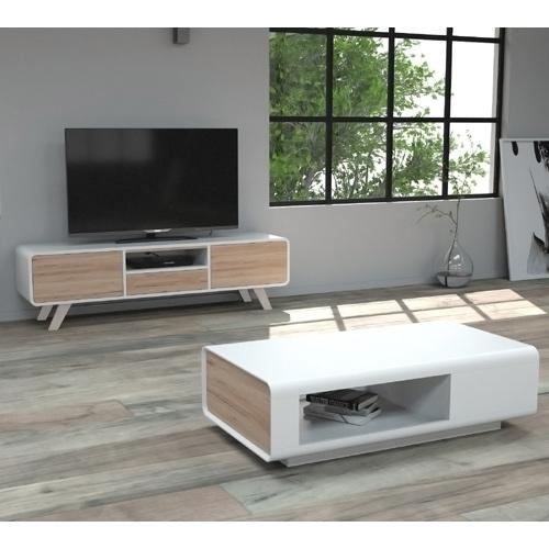 סט מזנון ושולחן סלוני בעיצובה מודרני דגם AMIR