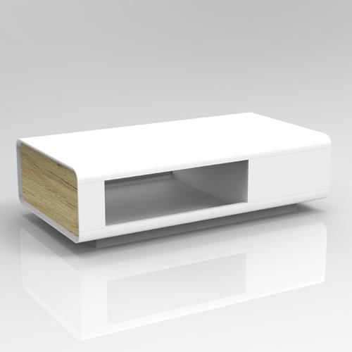 סט סלוני הכולל מזנון טלויזיה ושולחן סלון בגימור לבן משולב עץ דגם אמיר HOME DECOR - תמונה 2