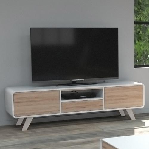 סט סלוני הכולל מזנון טלויזיה ושולחן סלון בגימור לבן משולב עץ דגם אמיר HOME DECOR - תמונה 3