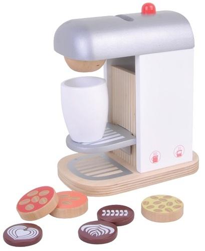 סט מכונת קפה מעץ עם אביזרים