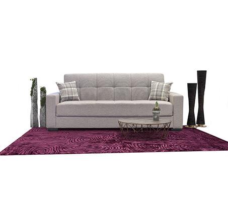 ספה תלת מושבית בעיצוב קלאסי נפתחת למיטה ברוחב וחצי עם ארגז מצעים BRADEX - תמונה 2