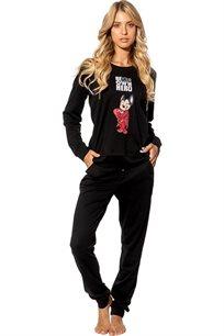 חליפת פנאי אינטרלוק לנשים מייטי בצבעים שחור או לבן