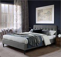 מיטת זוגית מעוצבת 140X190 בריפוד בד עם רגלי עץ מלא דגם פוני HOME DECOR