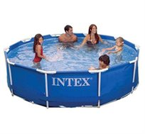 בריכת Intex SUPER עגולה הכל כלול בגודל 3.05X0.76 מטר + משאבת פילטר 530 גלון + אביזרים