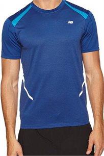 חולצת ריצה מקצועית NEW BALANCE לגבר בצבע כחול