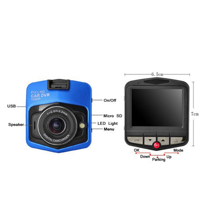 מצלמת רכב איכותית 1080P כולל צג ענק זוית צילום רחבה  צילום מספרי רכב באופן חד וברור כפתור ps מובנה - תמונה 3