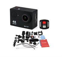 מצלמת וידאו 4k משולבת לפעילויות אקסטרים ספורט ופנאי + צג ענק צבעוני +שלט רחוק ויציאת HDMI 60FPS