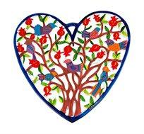 לב גדול בחיתוך לייזר עם ציורים ב-3 דגמים לבחירה