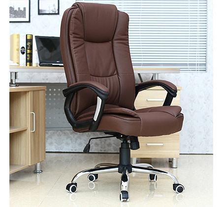 כסא משרדי עשוי דמוי עור בעל מבנה אורגמי המקנה תמיכה לכל הגוף - תמונה 3