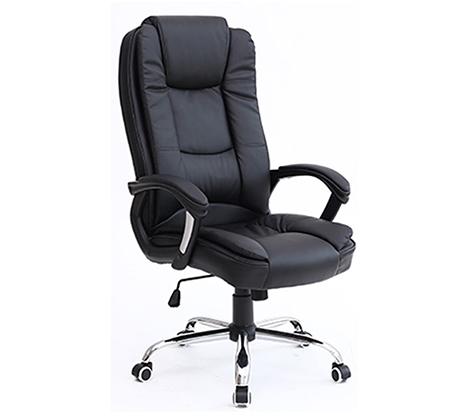 כסא משרדי עשוי דמוי עור בעל מבנה אורגמי המקנה תמיכה לכל הגוף