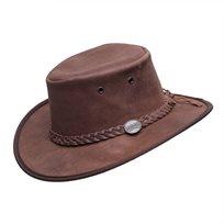 Barmah 1063 HI - כובע מעור בקר בצבע אגוז
