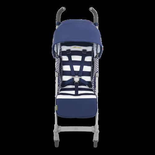 טיולון לתינוק קווסט 2019 עם גגון מורחב ומערכת נסיעה חדשה - כחול/פסים - משלוח חינם - תמונה 2