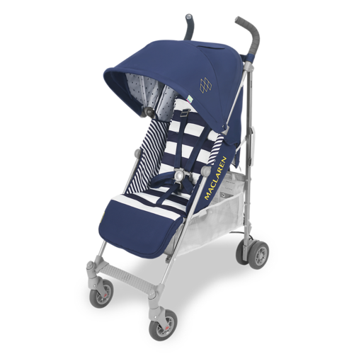 טיולון לתינוק קווסט 2019 עם גגון מורחב ומערכת נסיעה חדשה - כחול/פסים
